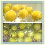 Tennis ball cake pops!